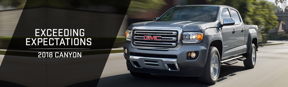 Exterior of the 2018 GMC Canyon at Rivertown Buick GMC near Opelika-Auburn, AL