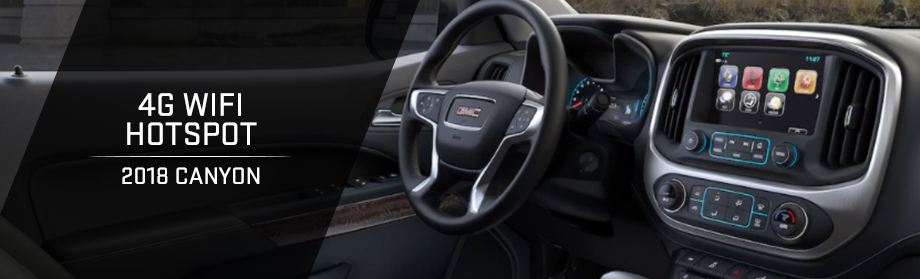 Safety features and interior of the 2018 GMC Canyon - available at Rivertown Buick GMC near LaGrange and Columbus, GA