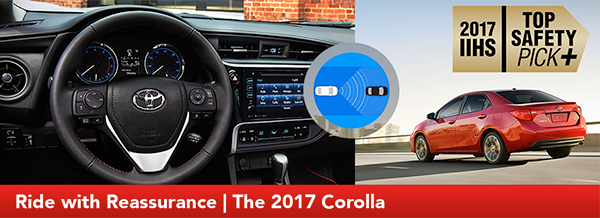 ALT: Interior and Safety Features of the 2017 Corolla at Lipton Toyota in Fort Lauderdale, FL