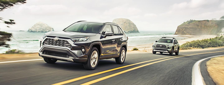 2020 Toyota RAV4 vehicles in motion