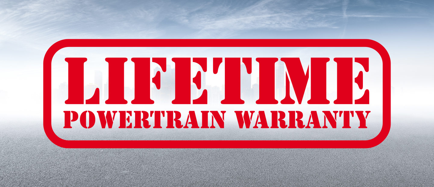 Free Lifetime Powertrain Warranty