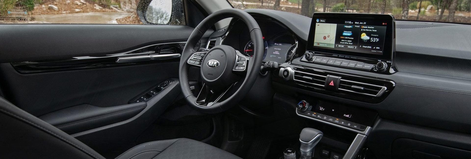 Picture of the interior of the new 2021 Kia Seltos