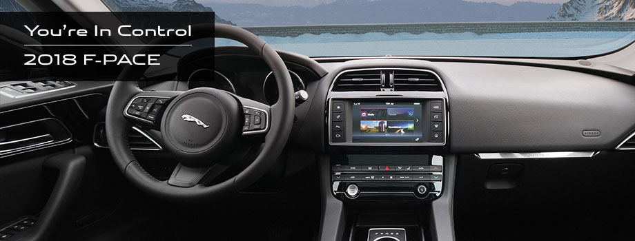 Safety features and interior of the 2018 Jaguar F-PACE - available at Jaguar Honolulu near Kaneohe and Honolulu, HI