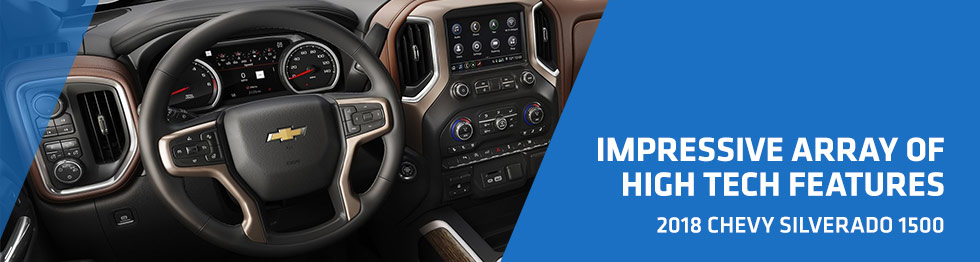 Safety features and interior of the 2018 Chevrolet Silverado 1500 - available at McClinton Chevrolet Mitsubishi Parkersburg near Marietta and Athens, GA