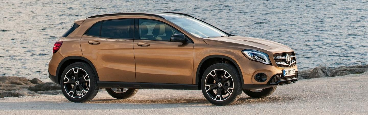 2020 Mercedes-Benz GLA parked next to the ocean