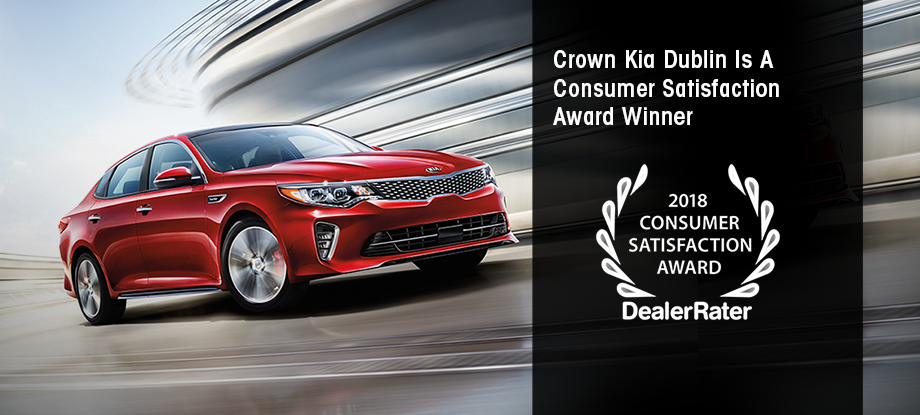 2018 Consumer Satisfaction Award | Crown Kia Dublin | The Better Way to Buy
