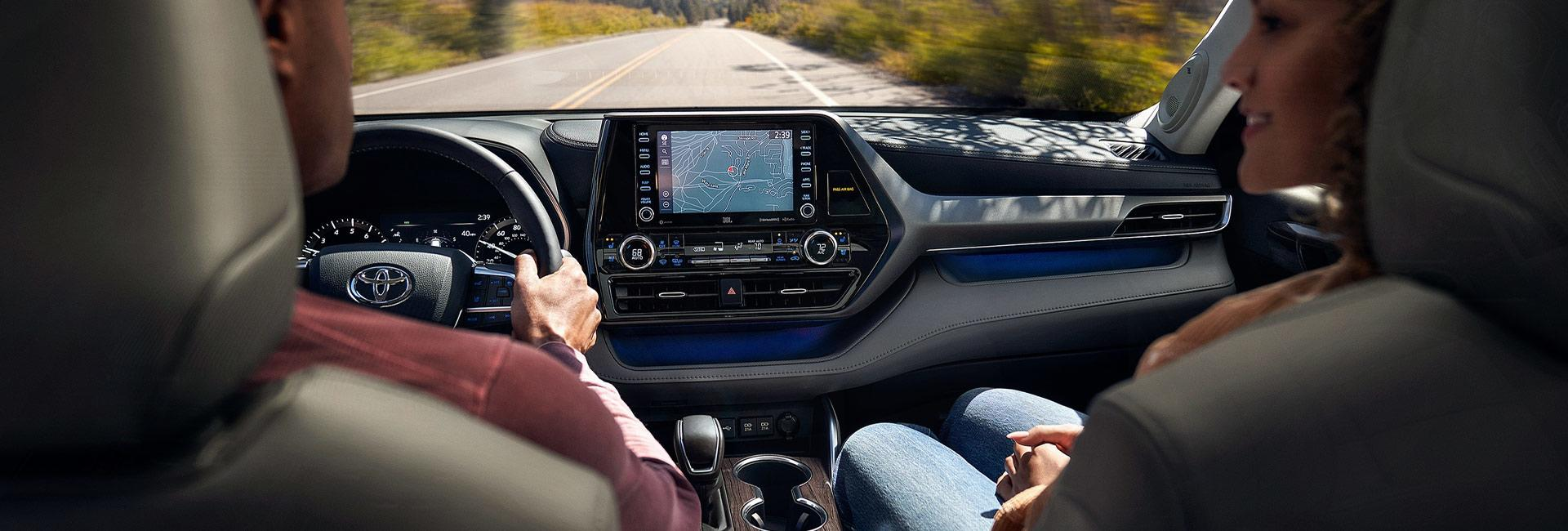 Picture of the interior of the 2020 Toyota Highlander