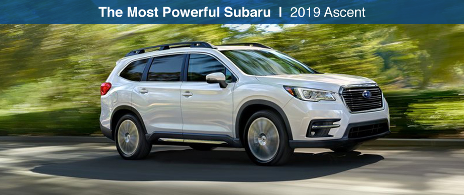Exterior of the 2019 Subaru Ascent at Bob Moore Subaru near Edmond, OK