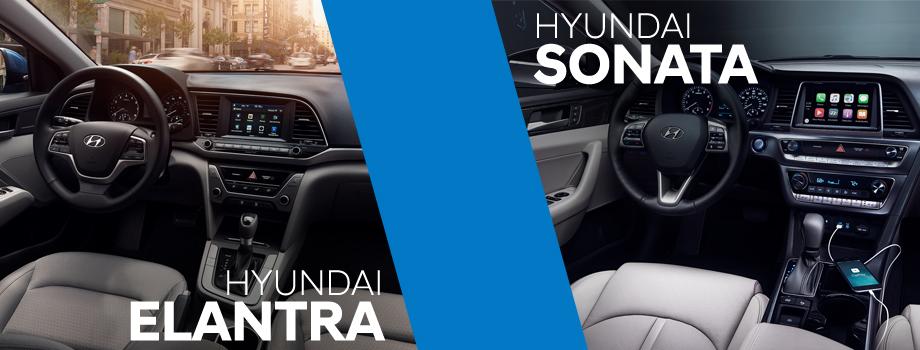 Interior of the 2018 Hyundai Sonata and 2018 Hyundai Elantra - available at Lithia Hyundai of Reno in Reno, NV
