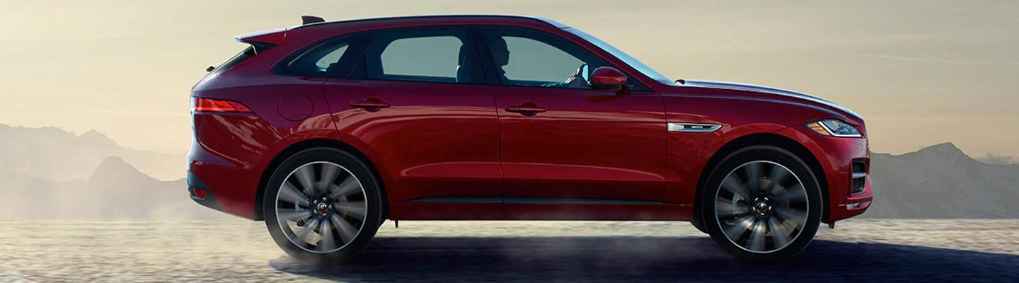 Side view of the 2020 Jaguar F-Pace Safety outside of Ocala, FL