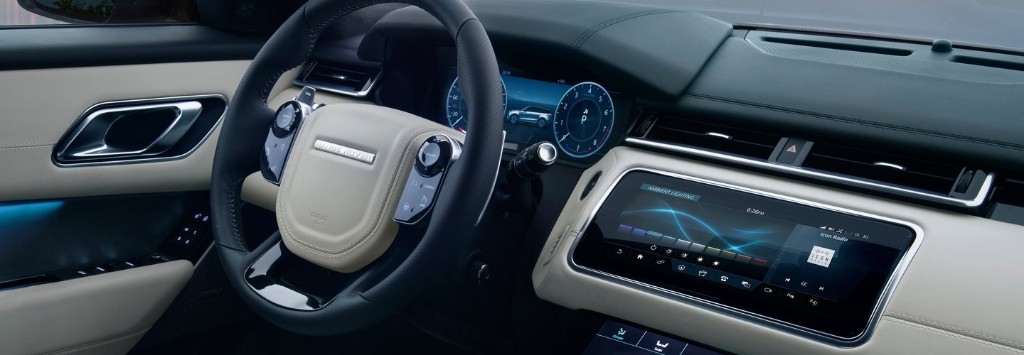Interior drivers side perspective of the 2020 Range Rover
