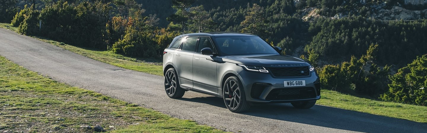 The 2020 Land Rover Range Rover driving outside
