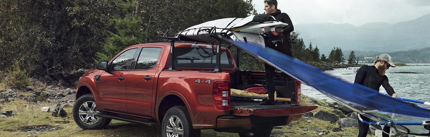 Ford truck with watersport equipment