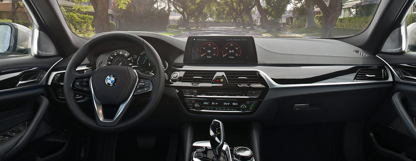 Safety features and interior of the 2019 BMW 5 Series - available at our BMW dealership near Savannah, GA.