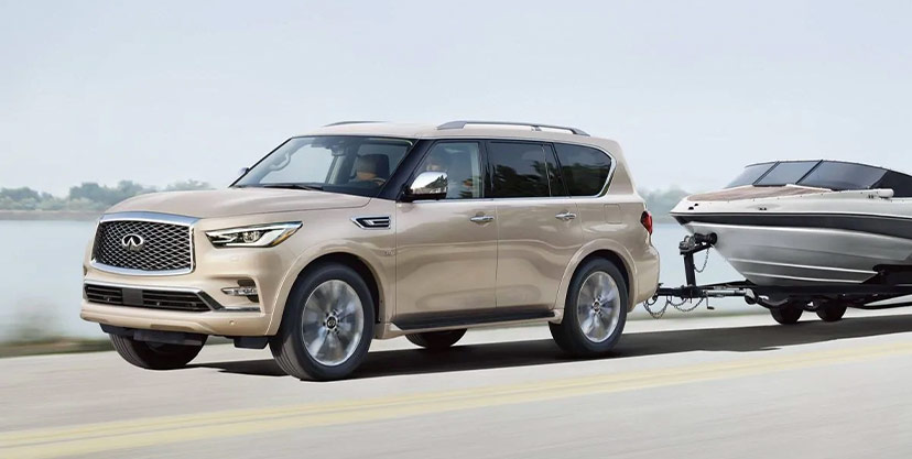 2019 INFINITI QX80 compared to Mercedes-Benz GLS 450, Cadillac Escalade and Lexus LX 570, cargo space, Zeigler INFINITI of Orland Park, IL