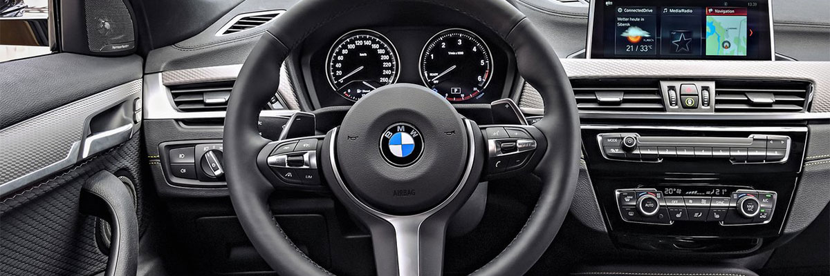 Safety features and interior of the 2018 BMW X2 - available at Hilton Head BMW nearSavannah, GA and Bluffton,SC