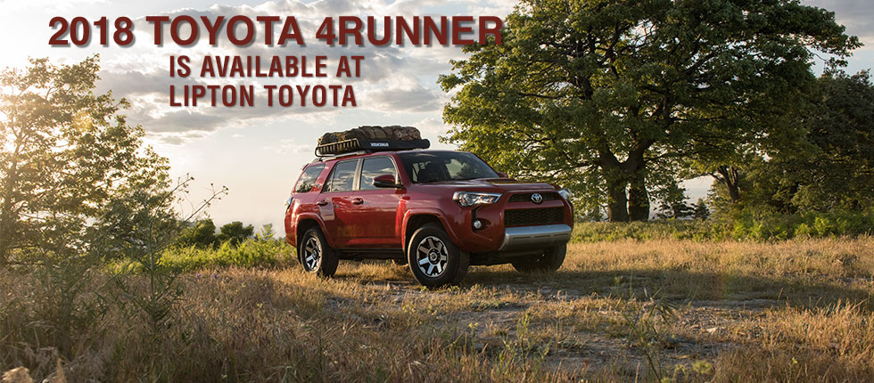 The 2018 Toyota 4Runner is available at Lipton Toyota Fort Lauderdale near Pompano Beach FL