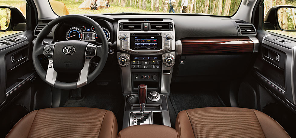 Safety features and interior of the 2018 4Runner - available at Lipton Toyota For Lauderdale near Hollywood and Pembroke Pines FL