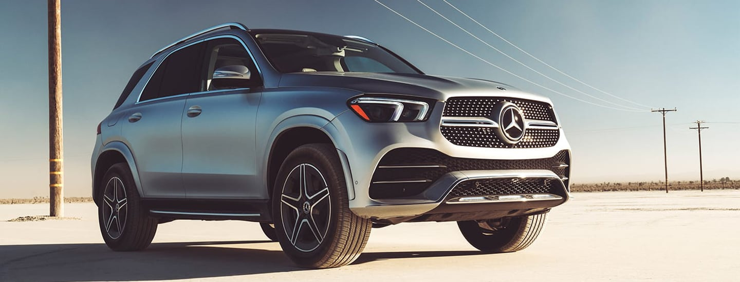 Silver 2020 Mercedes-Benz GLE parked