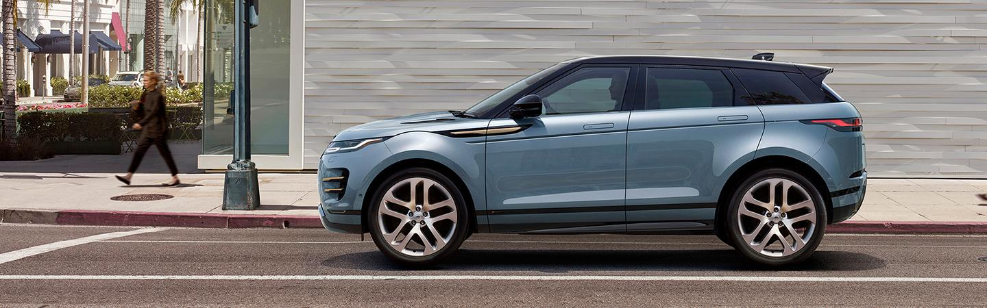Side view of the 2020 Land Rover Range Rover Evoque parked