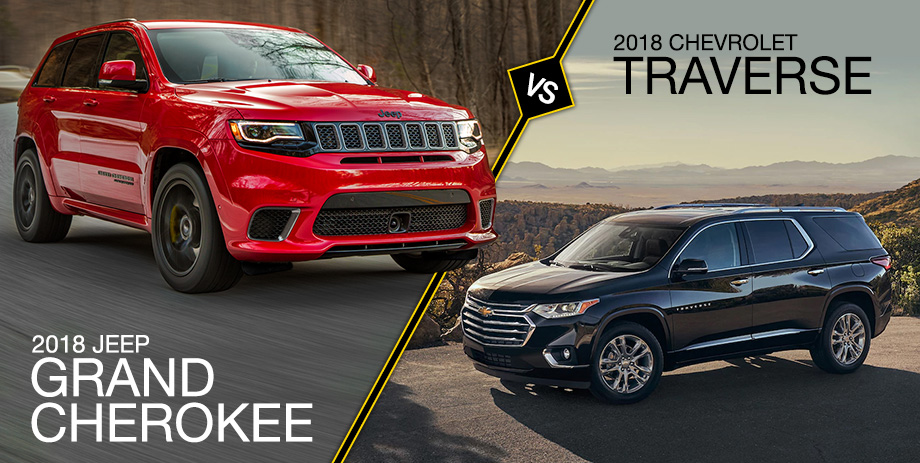 Jeep Cherokee Vs Grand Cherokee >> 2018 Grand Cherokee Vs 2018 Traverse Crown Cdjr Of Dublin