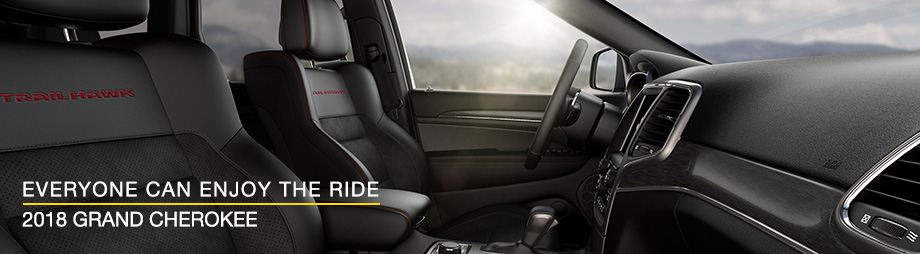Safety features and interior of the 2018 Jeep Grand Cherokee - available at Crown Chrysler Dodge Jeep Ram of Dublin near Delaware and Dublin, OH