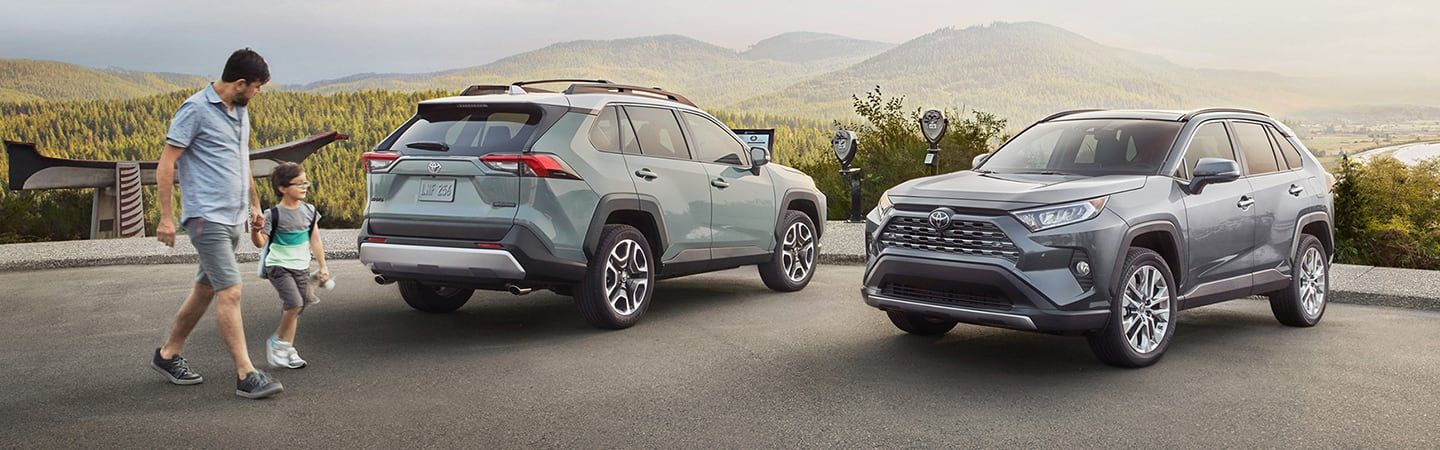 2020 Toyota RAV4 parked in a parking lot