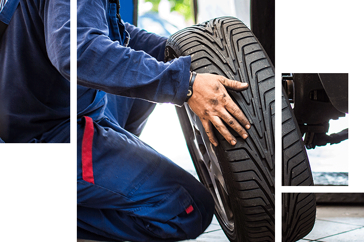 Tire service at Spitzer Dodge Chrysler Jeep Ram in Cleveland Ohio.
