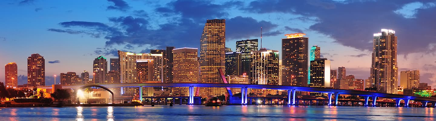 View of Miami From The Ocean