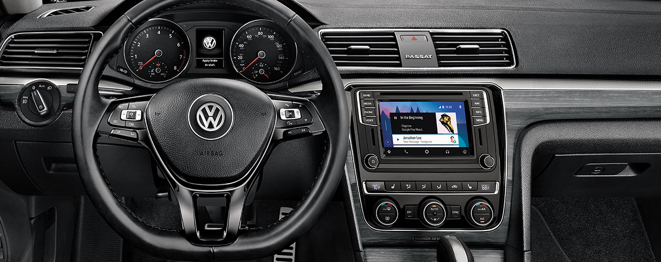 Safety features and interior of the 2018 Volkswagen Passat - available at our Volkswagen dealership near Alexandria, VA.