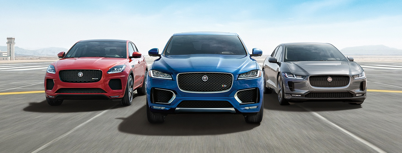 2020 Jaguar E-Pace vehicles parked together