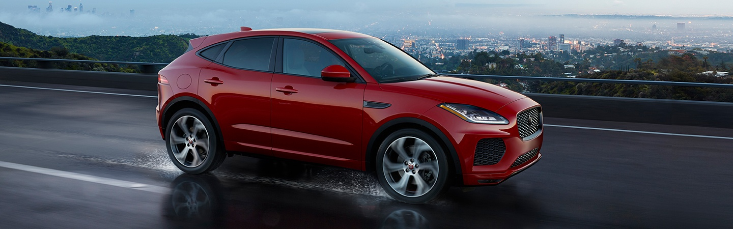 Side view of the 2020 Jaguar E-Pace in motion