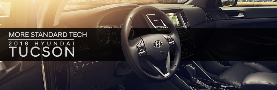 Safety features and interior of the 2018 Hyundai Tucson - available at Crown Hyundai near Palm Harbor and St. Petersburg, FL