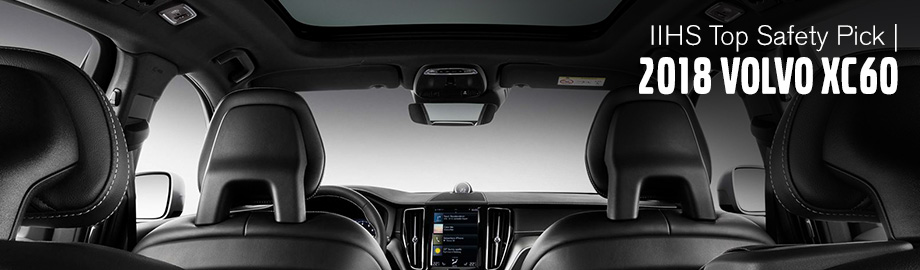 Safety features and interior of the 2018 Volvo XC60 - available at Crown Volvo Cars near Dunedin and Clearwater, FL
