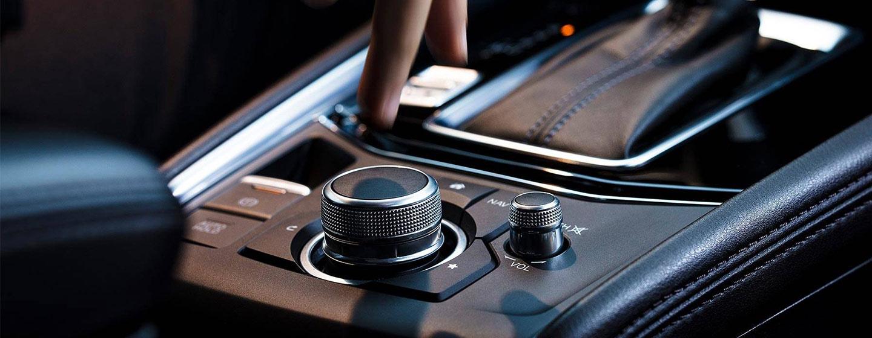 2019 Mazda CX-5 interior center console view.