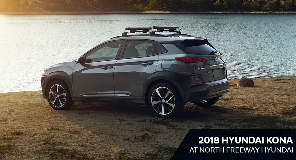 The 2018 Hyundai Kona is available at North Freeway Hyundai Spring TX near Houston