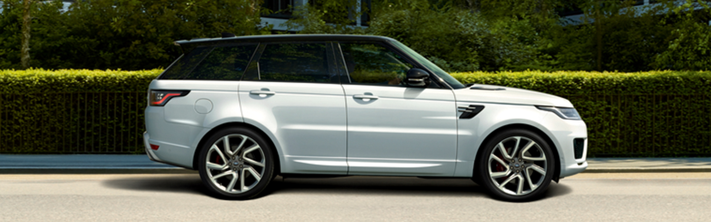 Side view of the 2020 Range Rover Sport parked