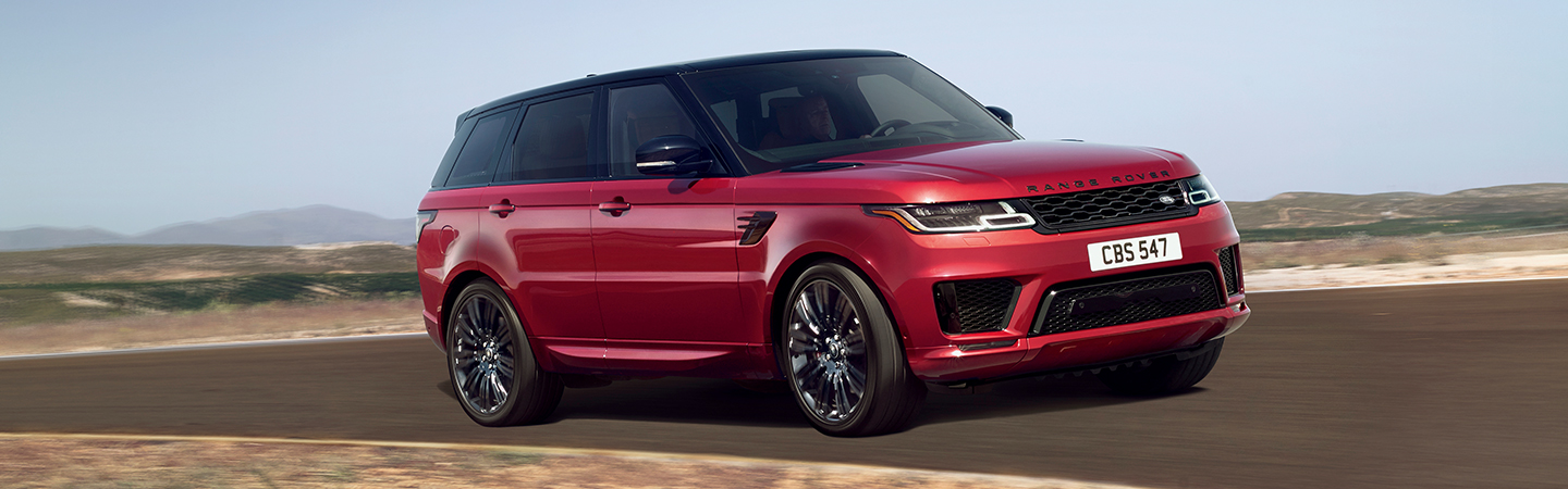 The 2020 Range Rover Sport in a turn outside of Land Rover Ocala