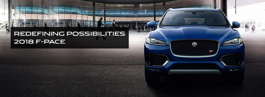 The 2018 F-PACE is available at Crown Jaguar in St. Petersburg