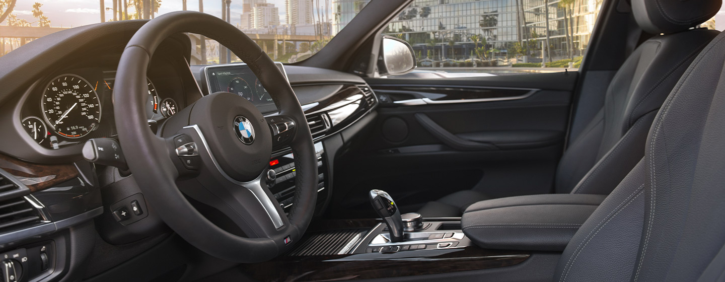 Safety features and interior of the 2019 BMW X5 - available at our BMW dealership near Miami.