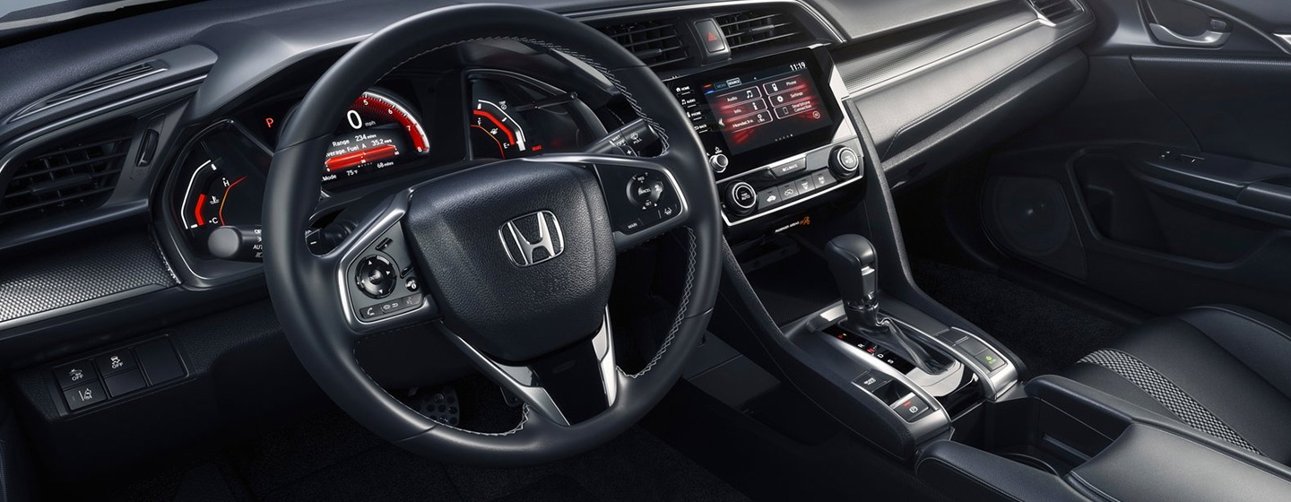 Safety features and interior of the 2019 Honda Civic - available at our Honda dealership near Fort Myers, FL.