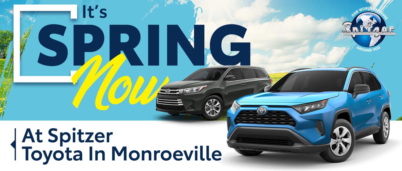 Spring 2020 at Spitzer Toyota in Monroeville