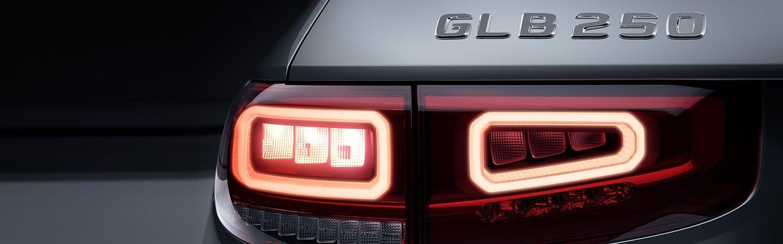 Closeup of 2020 Mercedes-Benz GLB taillight