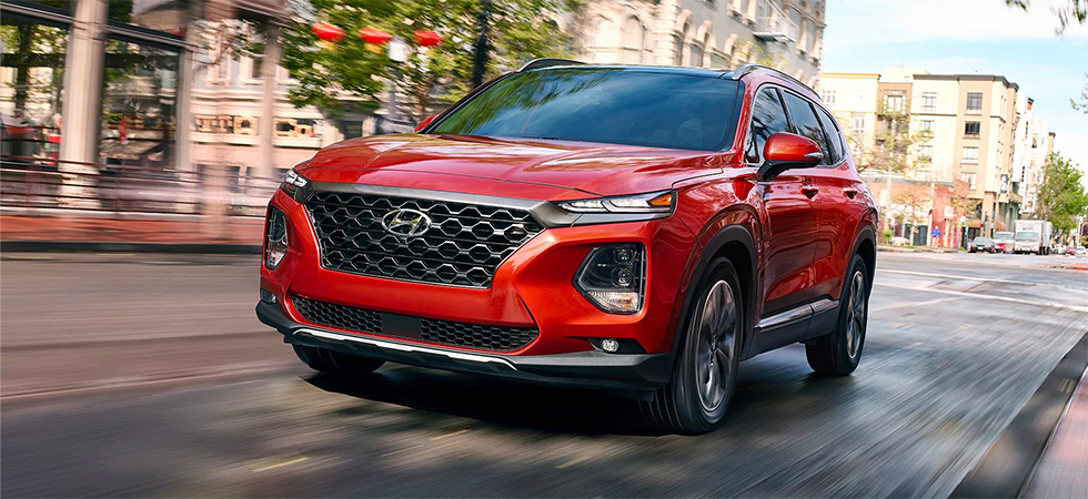 Picture of the 2019 Santa Fe for sale at our Hyundai dealership in Reno, NV.