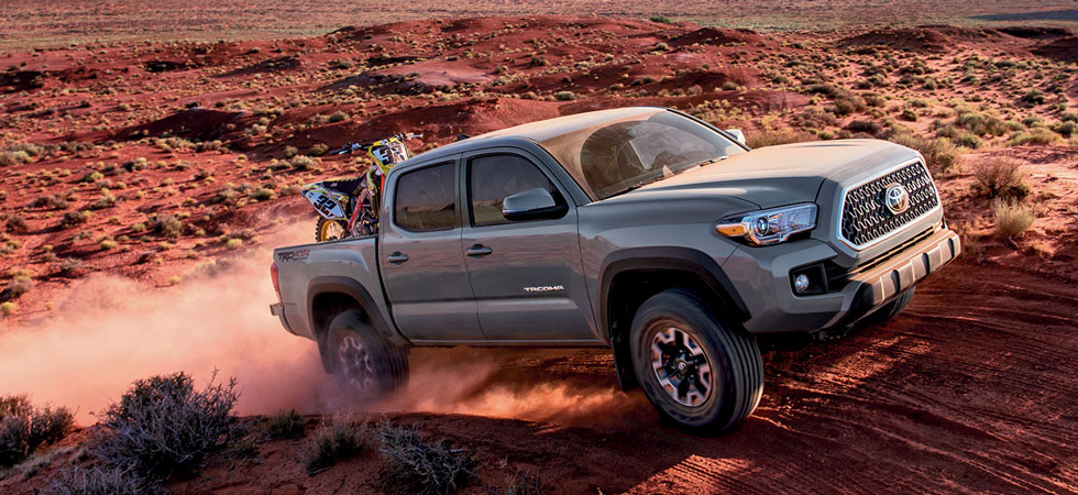 The Toyota Tacoma is available at our Lipton Toyota dealership in Fort Lauderdale.