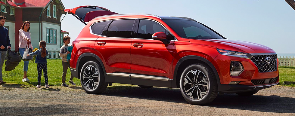 Picture of the exterior of the 2019 Hyundai Santa Fe – for sale at our Hyundai dealership in reno.