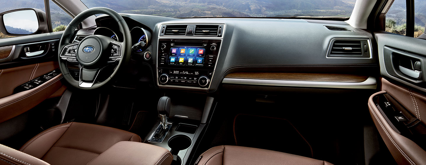 Interior of the Subaru Outback in Oklahoma City, OK