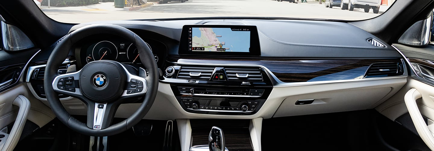 Interior of the 2020 BMW 5 Series