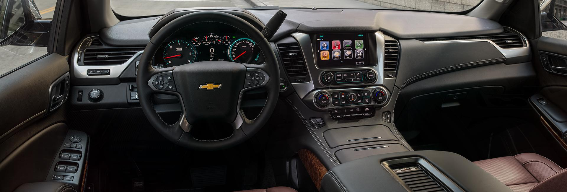 Picture of the interior of the 2020 Chevy Tahoe