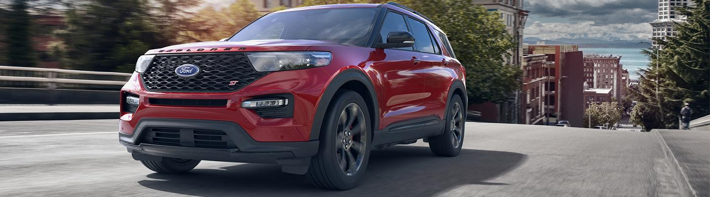 2020 Ford Explorer in motion